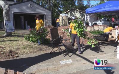 Cientos de voluntarios en Rancho Cordoba remodelaron jardines de la comu...