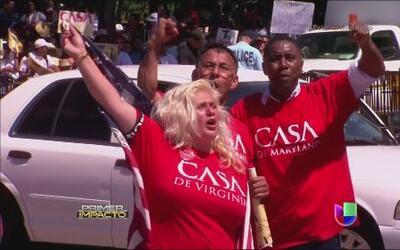 Inmigrantes pidieron al presidente Barack Obama que detuviera las deport...