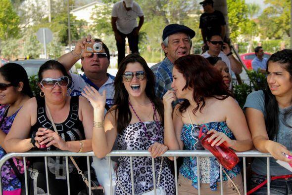 Algunos miembros del publico que disfrutaron de la parada!