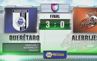 Gallos Blancos golea 3-0 a Alebrijes en la Copa MX