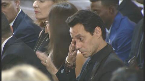 Marc Anthony en la misa en honor al beisbolista José Fernández.