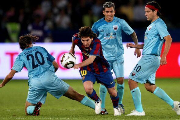 Pero a los Potros les tocó el Barcelona en semifinales y Messi, P...