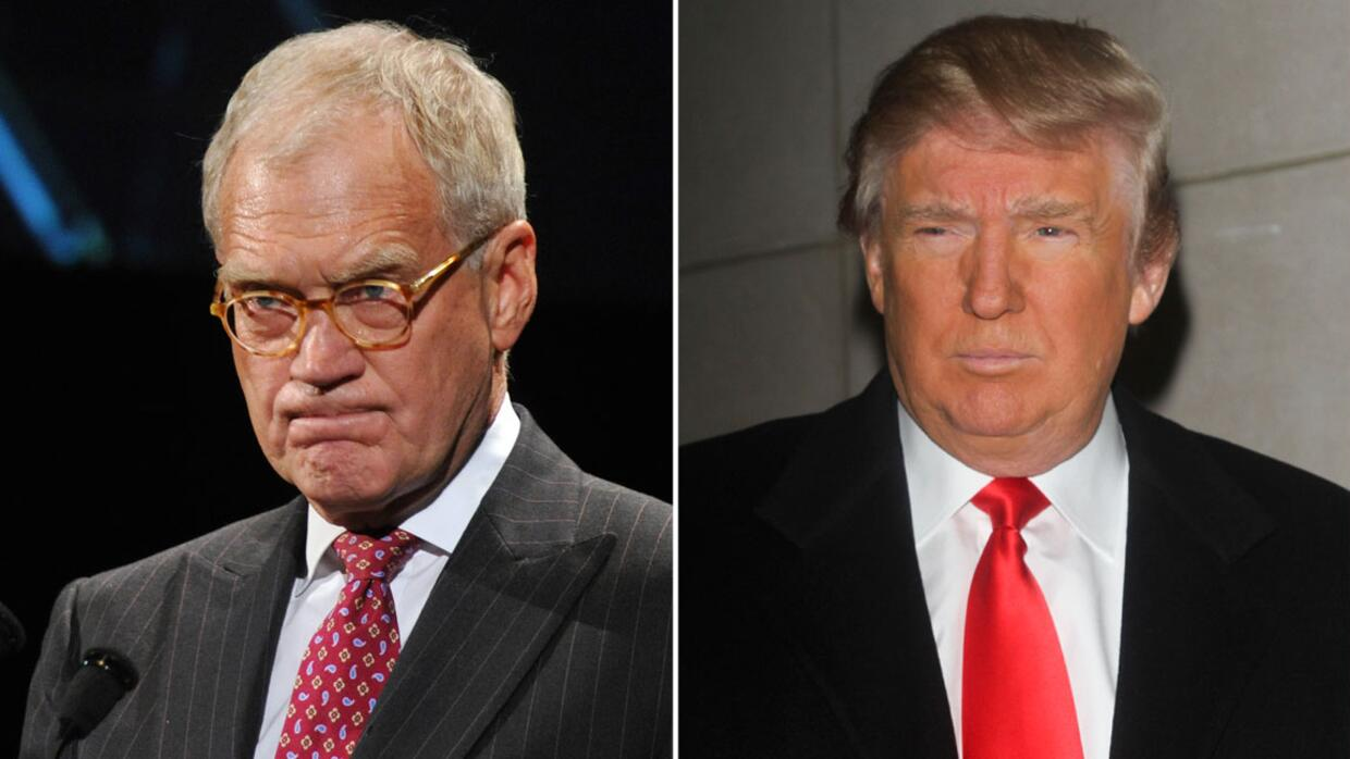 David Letterman se burla de Donald Trump