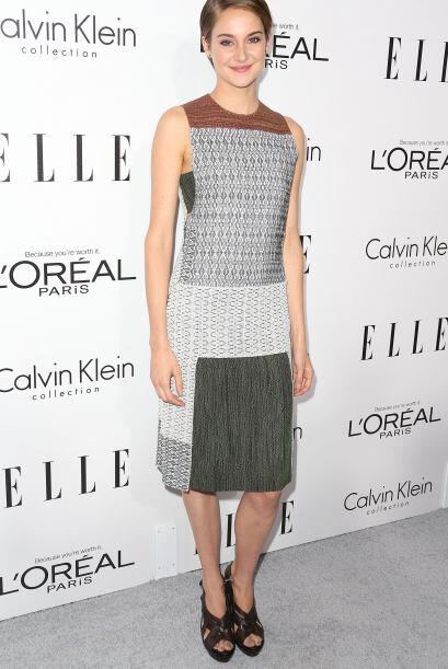 Shailene Woodley se llenó de estilo con estos estampados tribales.