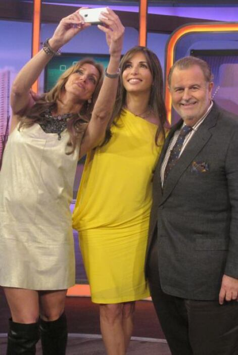 Giselle Blondet llegó a visitar a Raúl de Molina y Lili Estefan.