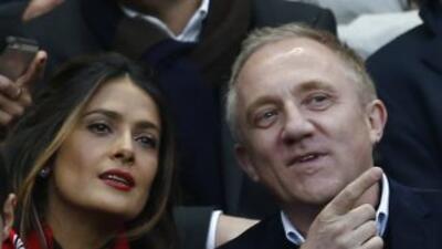 La actriz y productora mexicana acudió a la final de la Copa en Francia...