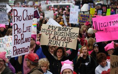 """""""Mi cuerpo es mi negocio, yo sola lo manejo"""", se lee en esta p..."""