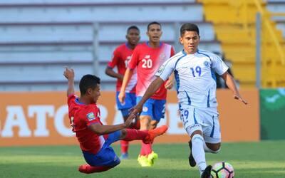 El Salvador sorprende y vence 1-0 a Costa Rica en el premundial sub 20