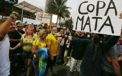 Las protestas empañan la inauguración del Mundial