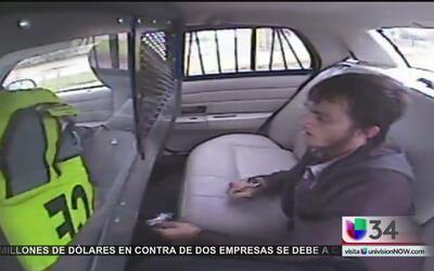 Detenido en una patrulla aprovecha accidente vehicular para huir