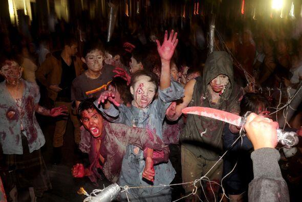 ¡Pero qué gran susto! Los niños zombis nos comerán a todos esta noche de...