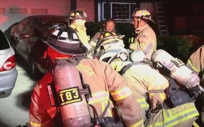 'Área de la Bahía en un Minuto': dos bomberos resultaron heridos mientra...