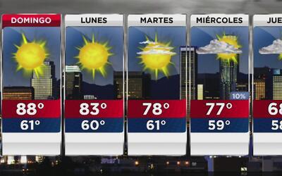 Las temperaturas superarán los 90 grados este domingo