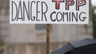 Protestas a las puertas del Capitolio en contra del tratado de libre com...