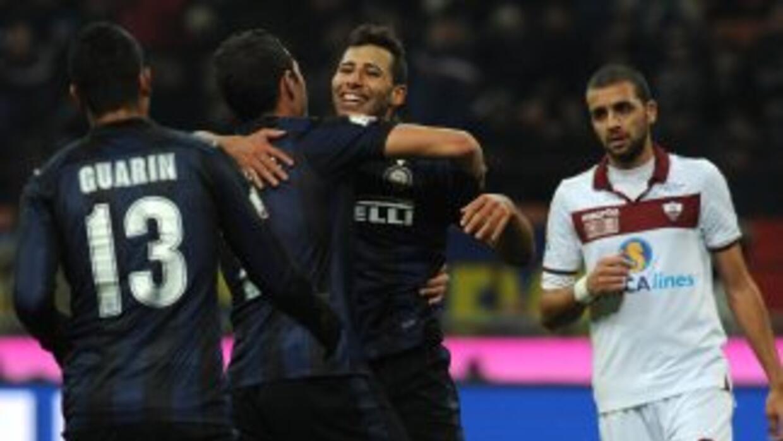 Los interistas sufrieron en la parte final del juego cuando el Trapani s...