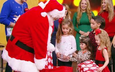 Santa Claus sorprendió a nuestros pequeños invitados en Despierta América