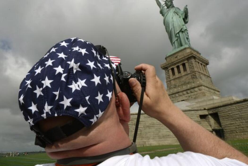 """La """"Lady Liberty"""", como la llaman cariñosamente en Nueva York, """"nos recu..."""