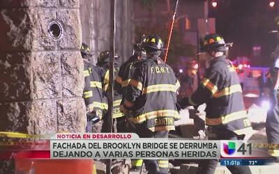 Se derrumba fachada del Brooklyn Bridge