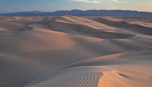 Las dunas de arena en el desierto abarcan millones de hectáreas