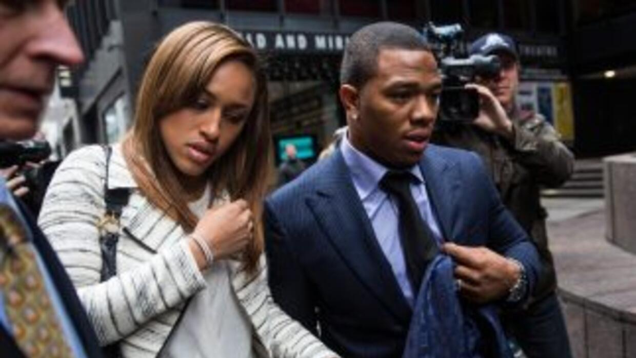Ray Rice y Janay Palmer.