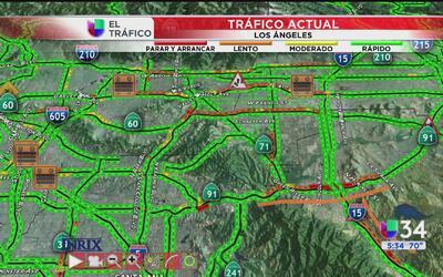 Congestionamiento afecta a los conductores sobre la autopista 91 oeste