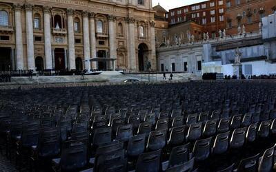 Todo está listo en el Vaticano para la misa solemne de inicio de...