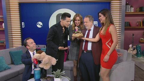 Clarissa Molina sorprendió a Luis Coronel con tremendo pastel de cumpleaños