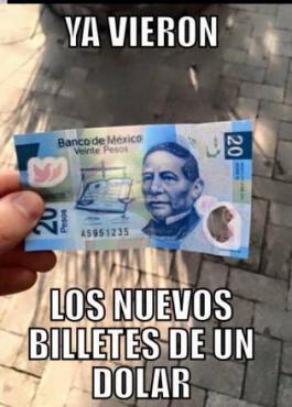 Nuevo billete de un dólar.