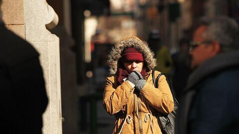 Esta imagen que refleja el frío del año pasado ilustra lo que la ciudad...