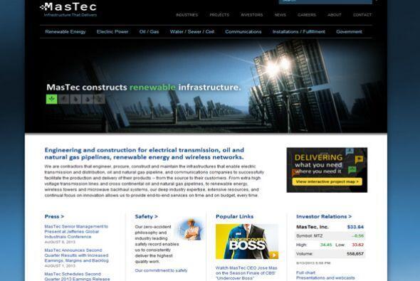 11. MasTec Advanced Technologies/MasTec Network Solutions  Sector de la...