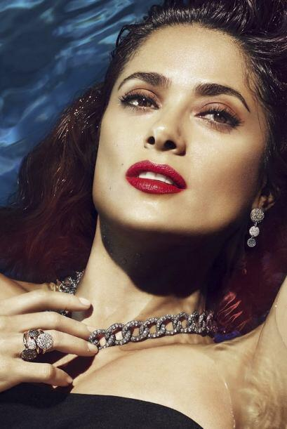 La publicidad son bellos y sugerentes retratos de la mexicana.