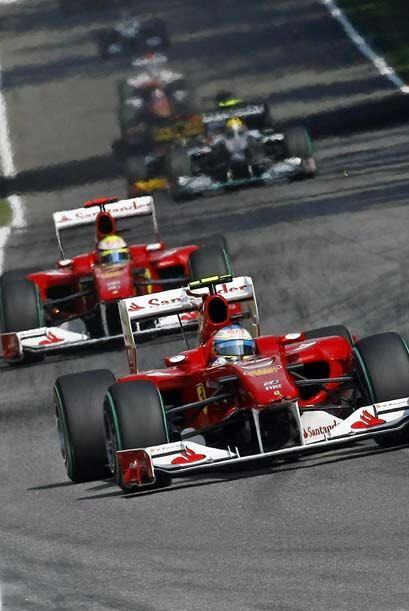 Massa siguió de cerca a Alonso a lo largo de toda la carrera, pero ni si...