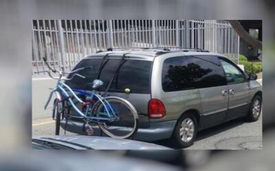 La camioneta del presunto asesino de un perro en Boyle Heights.