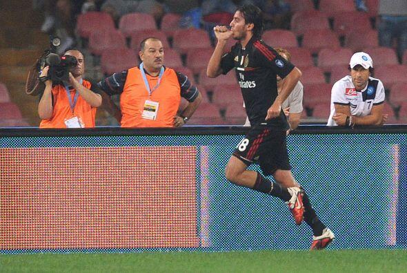 Los 'rossoneri' se ponían en ventaja con un tanto de Alberto Aquilani.