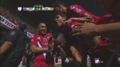 Veracruz mordió primero y con gol de Leiton Jiménez le ganan al América