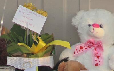 Vecinos construyen altar para honrar la memoria del niñito que fu...