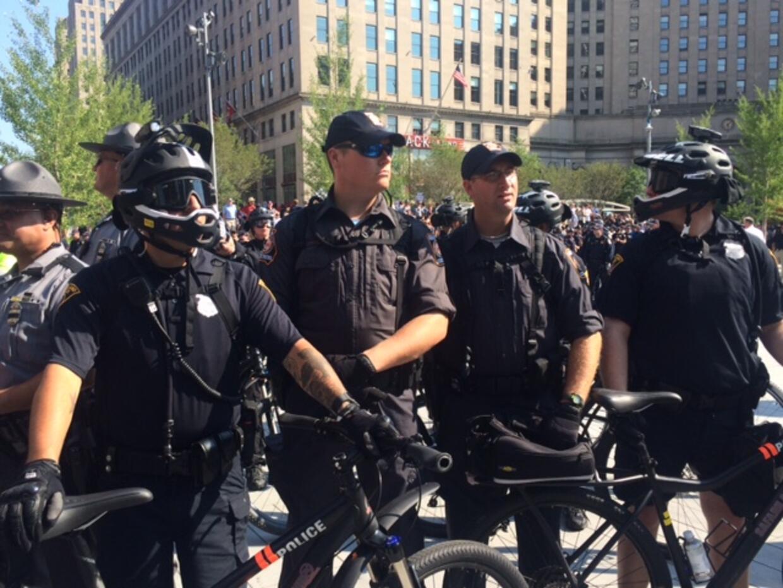 Masiva protesta de Black Live Matter en Cleveland, Ohio donde se celebra...