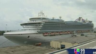 El Crown Princess e la línea de cruceros Princess regreso a la Florida c...