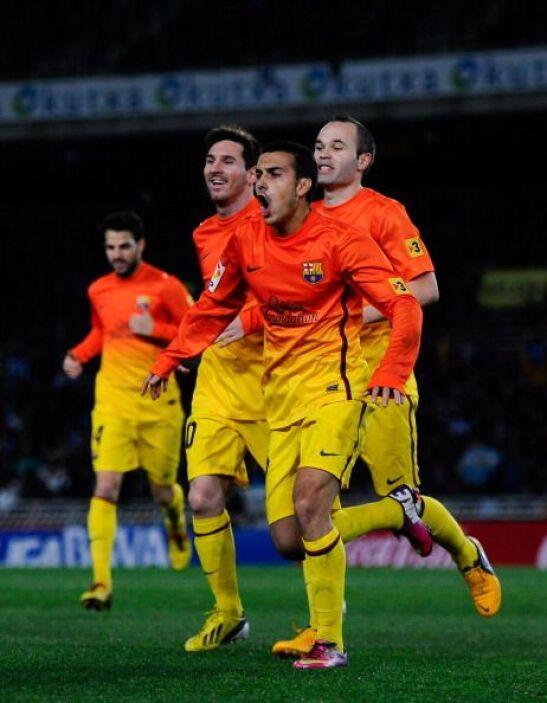Tras una buena jugada colectiva Pedro metía un gol a puerta vacía para e...