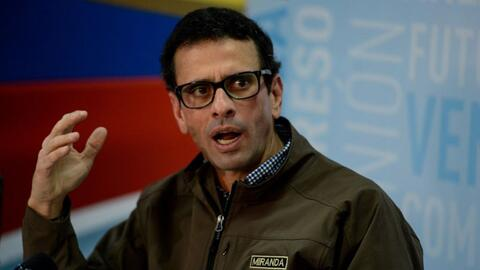 Henrique Capriles, gobernador del estado de Miranda y uno de los princip...