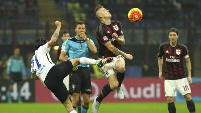 Milan y Atalanta empataron sin goles.
