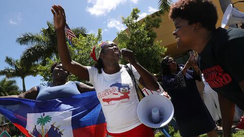 La comunidad haitiana de Florida ha llevado una fuerte campaña para prom...