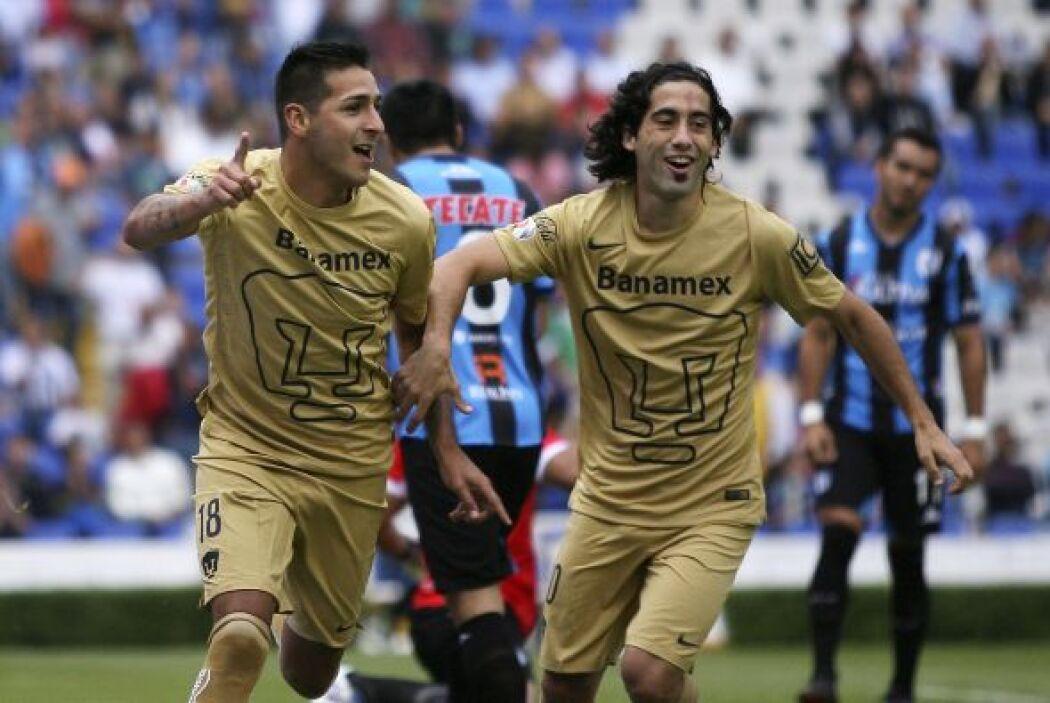 Pumas debutó con una victoria de 3 a 1 sobre Querétaro con dos goles de...