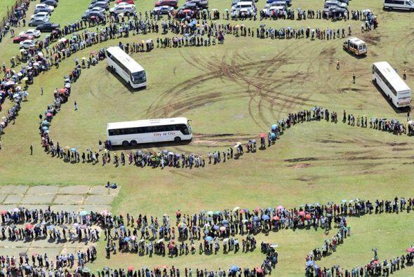 La capilla ardiente de Mandela fue el lugar donde el líder sudafricano j...