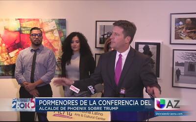 """Alcalde de Phoenix: """"Trump no es bienvenido"""""""