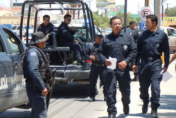 La presencia de efectivos de seguridad es una postal de Ciudad Juárez, e...