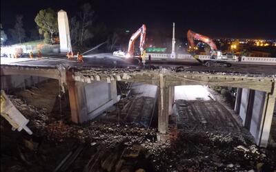 Las obras de demolición iniciaron la noche del viernes