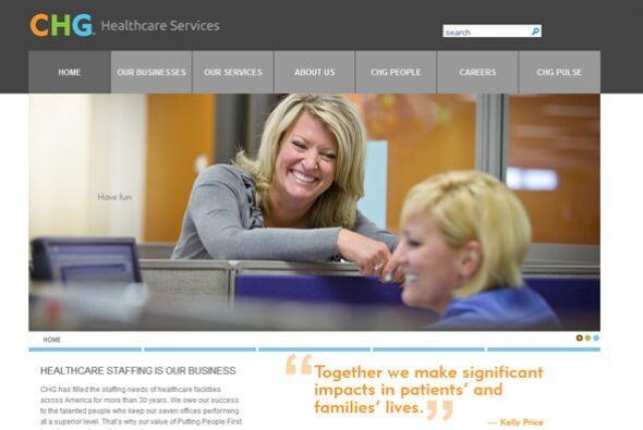 9. CHG HEALTHCARE SERVICES-  Número de empleados- 1,312.  Industr...