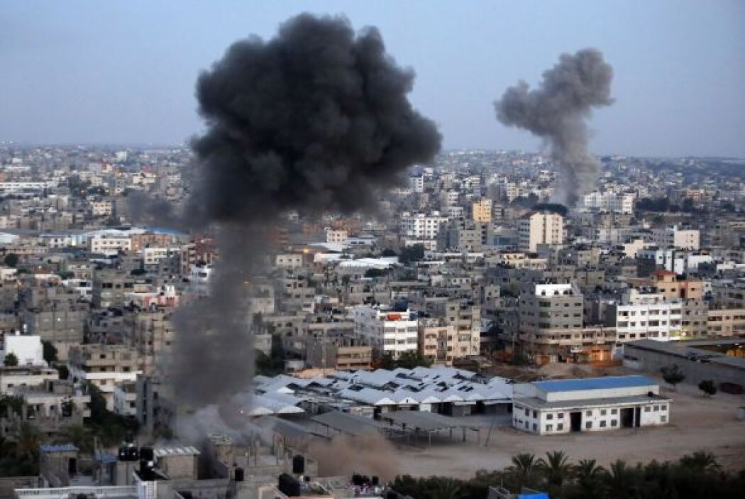 """El presidente palestino, Mahmud Abas, tachó de """"genocidio"""" la campaña is..."""