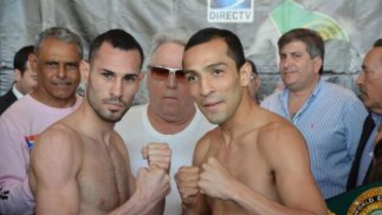 Pedraza y Garza en peso (Foto: Gary Shaw)
